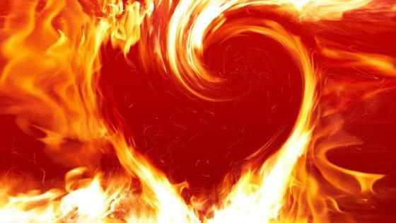 Liefde is de weg. Vuur is het element voor vernieuwing
